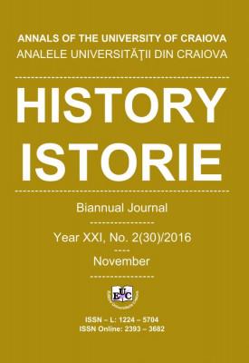 Analele Universității din Craiova, Seria Istorie, An XXI, Nr. 2(30)/2016