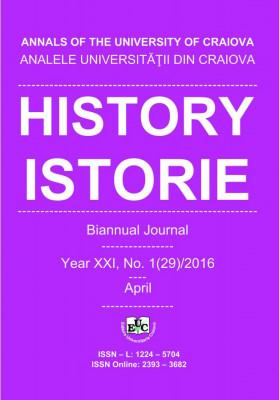 Analele Universității din Craiova, Seria Istorie, An XXI, Nr. 1(29)/2016