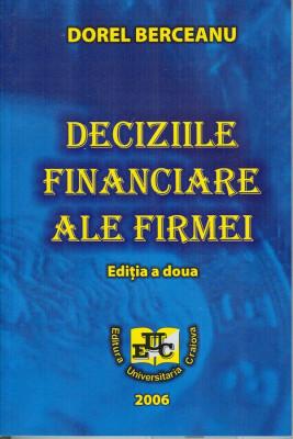 Deciziile financiare ale firmei