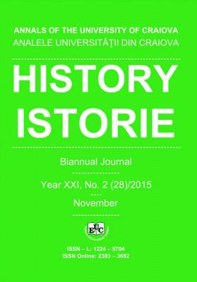 Analele Universității din Craiova, Seria Istorie, An XX, Nr. 2(28)/2015