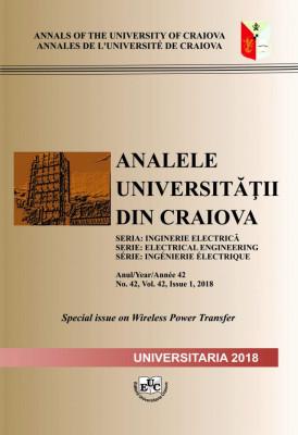 ANALELE UNIVERSITĂȚII DIN CRAIOVA, SERIA INGINERIE ELECTRICĂ, Anul/Year/Année 42 No. 42, Vol. 42, Issue 1, 2018