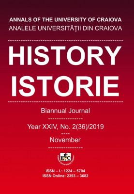 Analele Universitatii din Craiova, Seria Istorie/ History, Year XXIV, No. 2(36)/2019