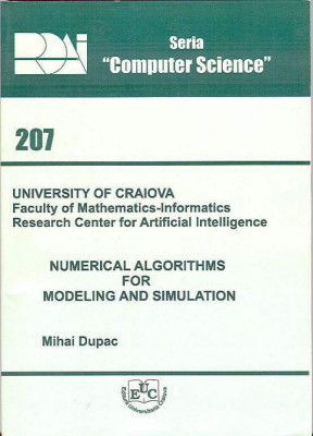 Numerical Algorithms for Modeling and Simulation