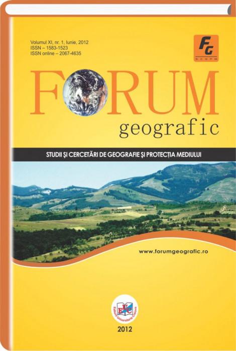 Forum Geografic, Vol. XI, Nr. 1, Iunie 2012