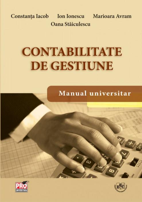 Contabilitate de gestiune. Manual universitar